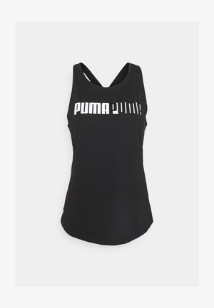 TRAIN LOGO CROSS BACK TANK - Koszulka sportowa - black
