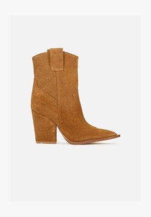 GANGES - High heeled ankle boots - ginger