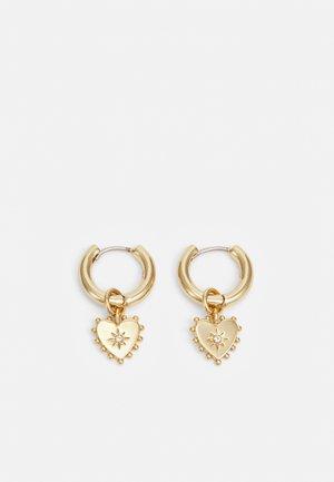 HEART CHARM EARRING - Örhänge - gold-coloured
