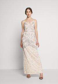 Sista Glam - FLORY - Suknia balowa - cream silver - 1