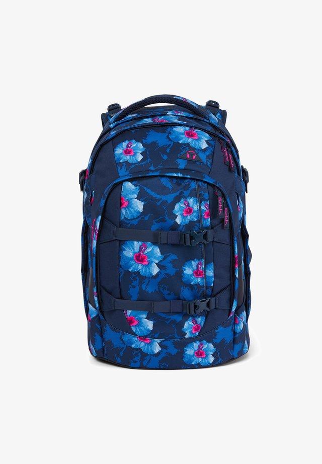 School bag - blue pink white