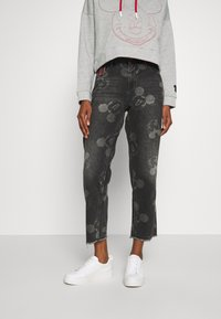Desigual - MERY MICKEY - Jean boyfriend - denim black - 0