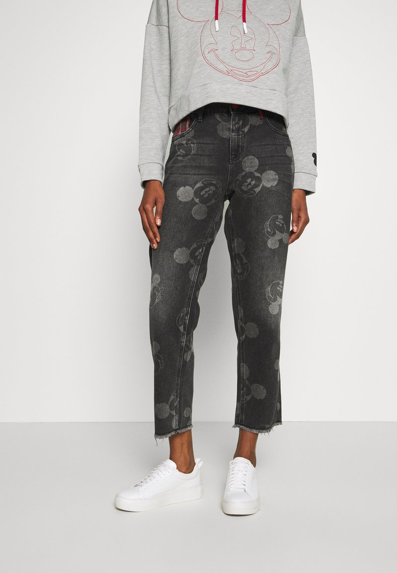 Desigual - MERY MICKEY - Relaxed fit jeans - denim black