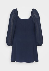 Missguided Plus - DOBBY MILKMAID DRESS - Day dress - navy - 1