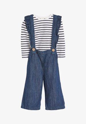 FRILL BRACE TROUSER - Rain trousers - blue