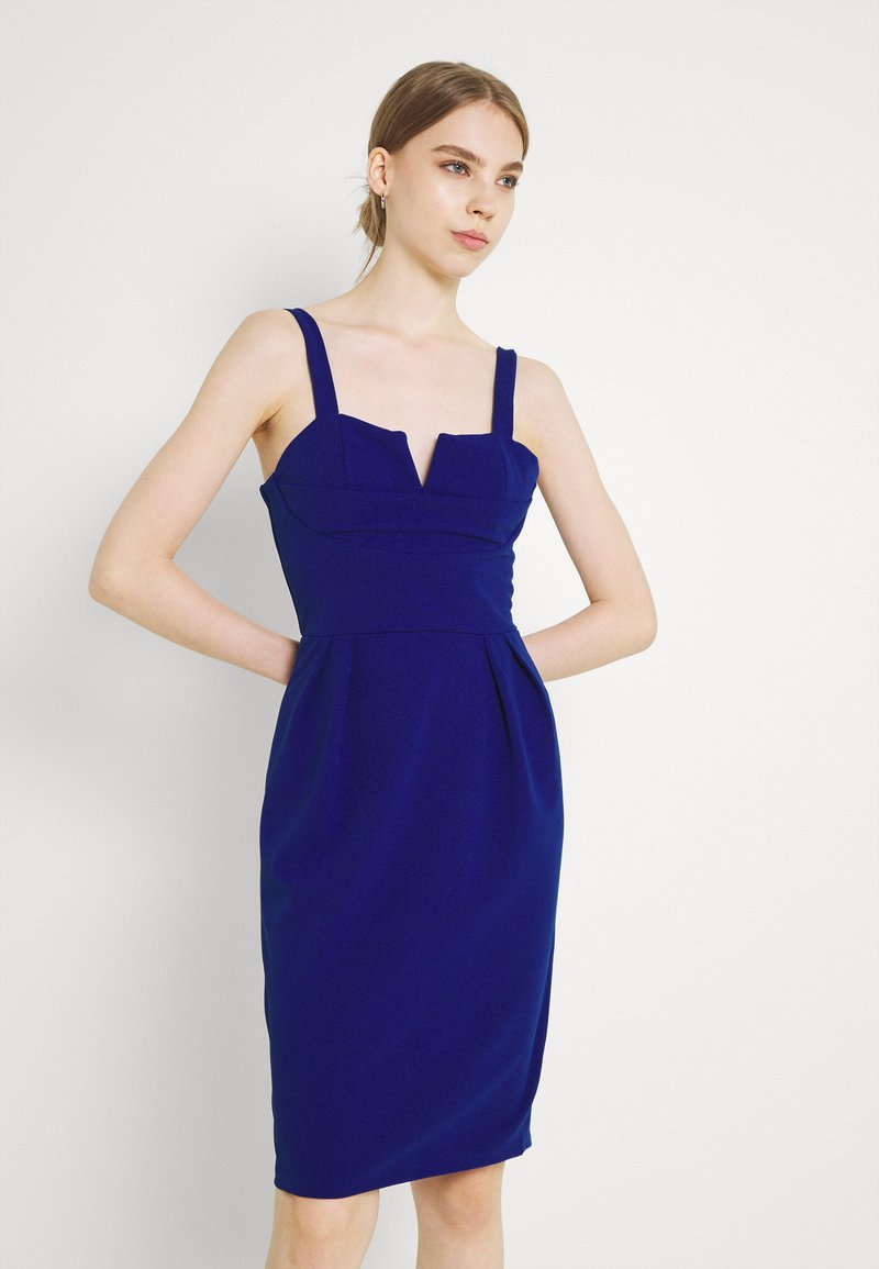 WAL G. - IMAANI STRAPPY MIDI DRESS - Cocktail dress / Party dress - electric blue