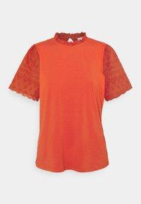 Vila - VISELVA - Print T-shirt - burnt ochre - 3
