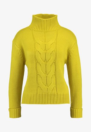 CHUNKY FUNNEL NECK JUMPER - Stickad tröja - lime