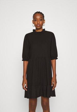 ONLZILLE HIGHNECK DRESS - Skjortekjole - black