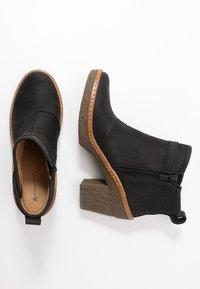 El Naturalista - HAYA - High heeled ankle boots - pleasant black - 3