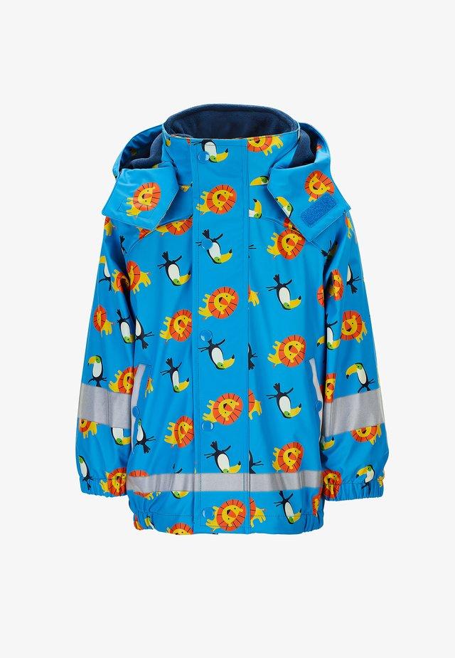 REGENJACKE MIT INNENJACKE - Outdoor jacket - azurblau