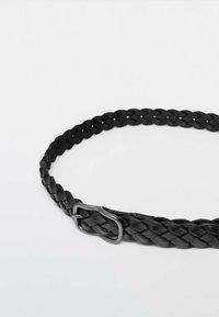 Massimo Dutti - Braided belt - black - 2