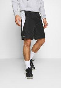 Lacoste Sport - TENNIS - Sportovní kraťasy - black/calluna/white - 0