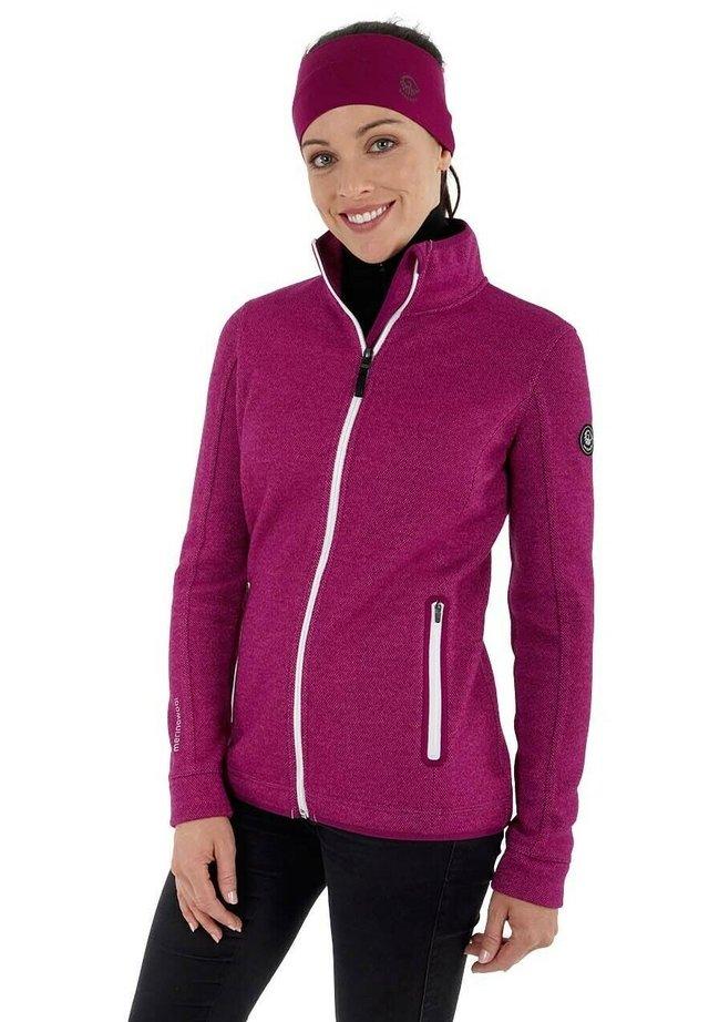 WALK  - veste en sweat zippée - traube