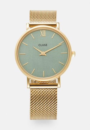 MINUIT - Klokke - gold-coloured/stone green