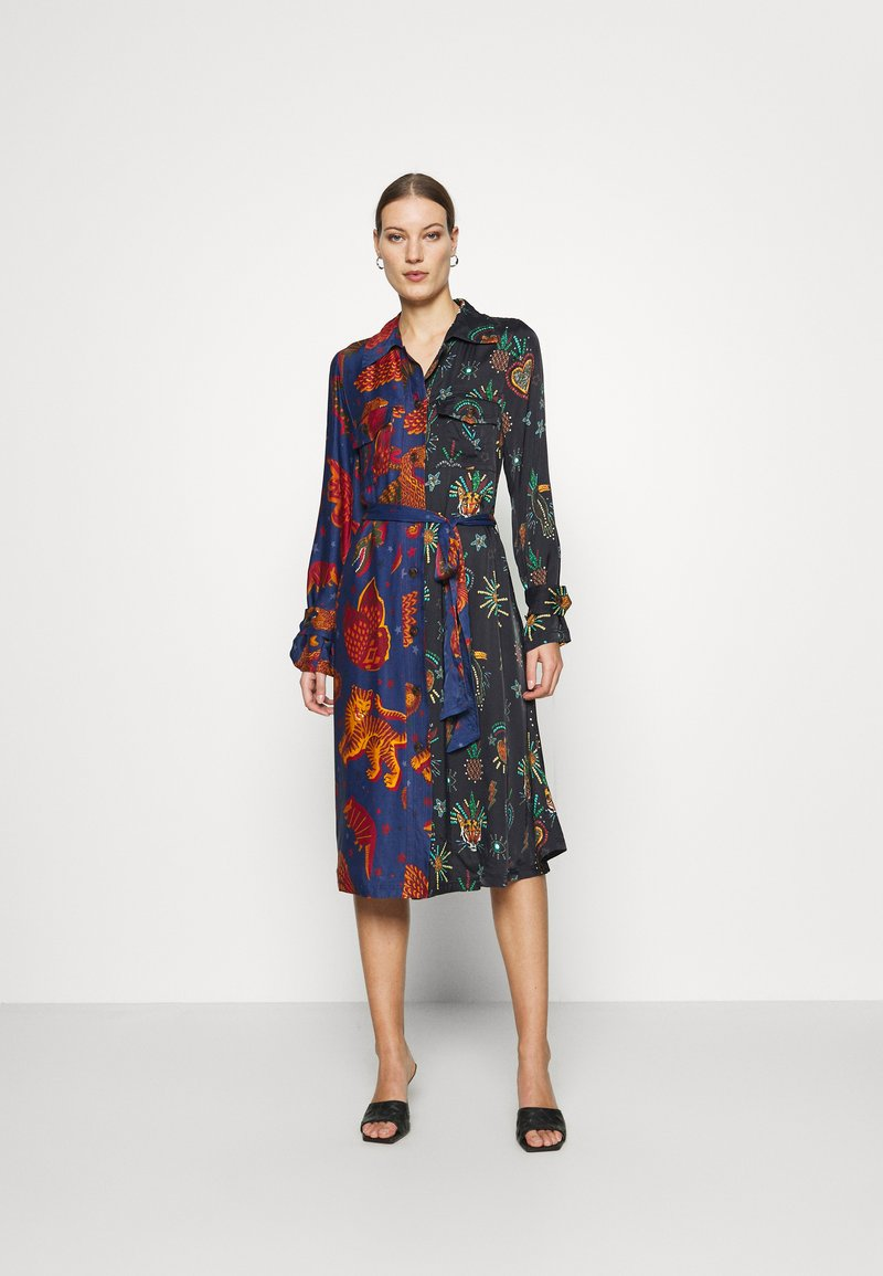 Farm Rio - DARK JUNGLE SKY DRESS - Shirt dress - multi