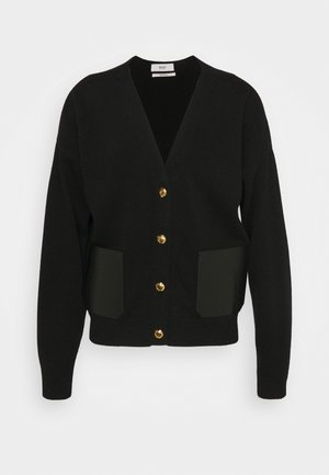 PATCH CARDIGAN - Kardigan - black