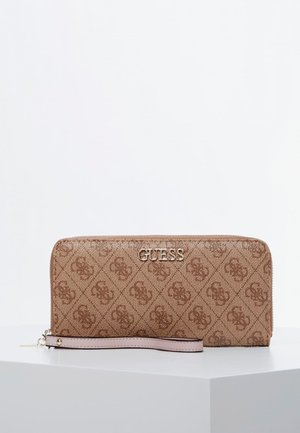 GUESS GROSSES PORTEMONNAIE ALBY - Wallet - braun