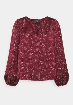 SPLIT BLOUSON  - Bluse - burgundy