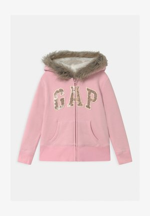 GIRL LOGO COZY  - Mikina na zip - pure pink