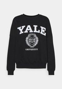 Even&Odd - YALE College Print Oversized Sweatshirt - Felpa - black - 3