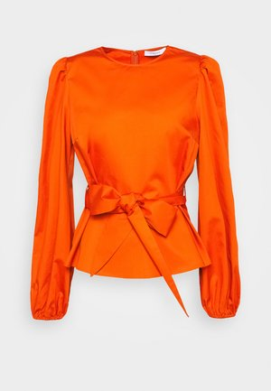 WITH PEPLUM - Blusa - pumpkin