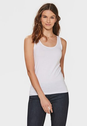 WE FASHION DAMEN-TOP AUS BIO-BAUMWOLLE - Débardeur - white