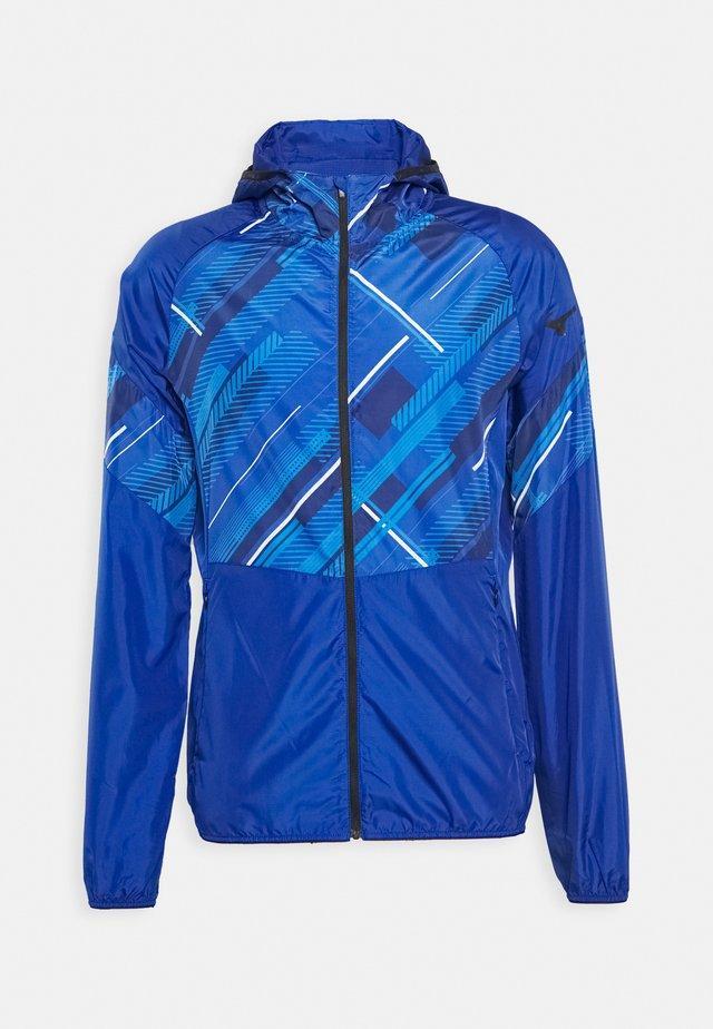 PRINTED JACKET - Veste de survêtement - mazarine blue