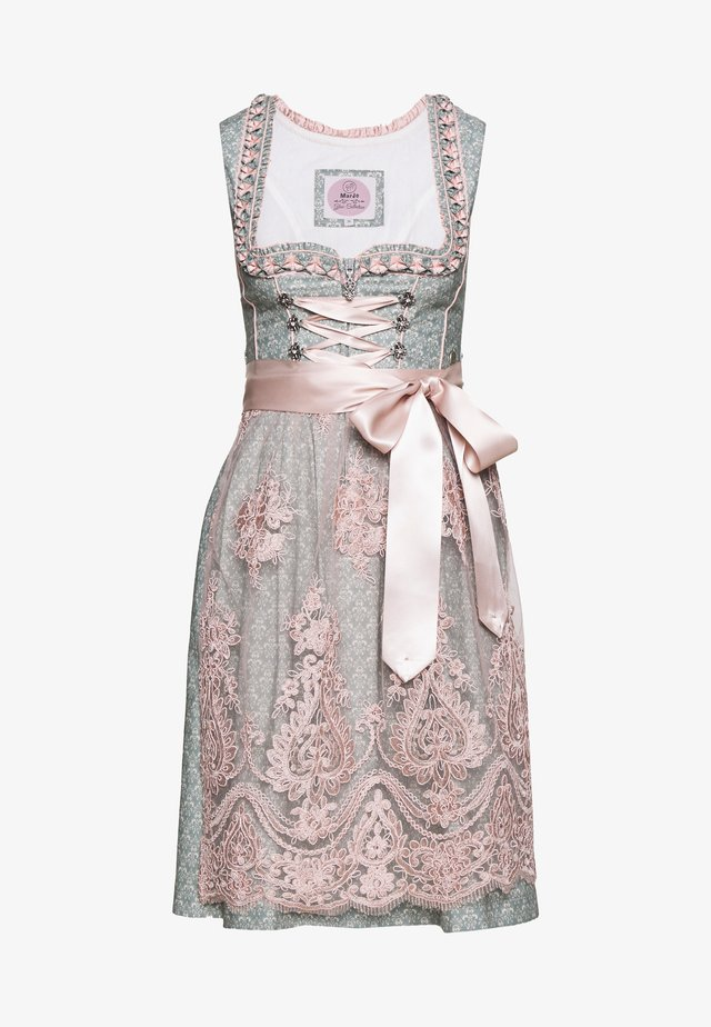 MARLINA - Dirndl - taubenblau/rosa