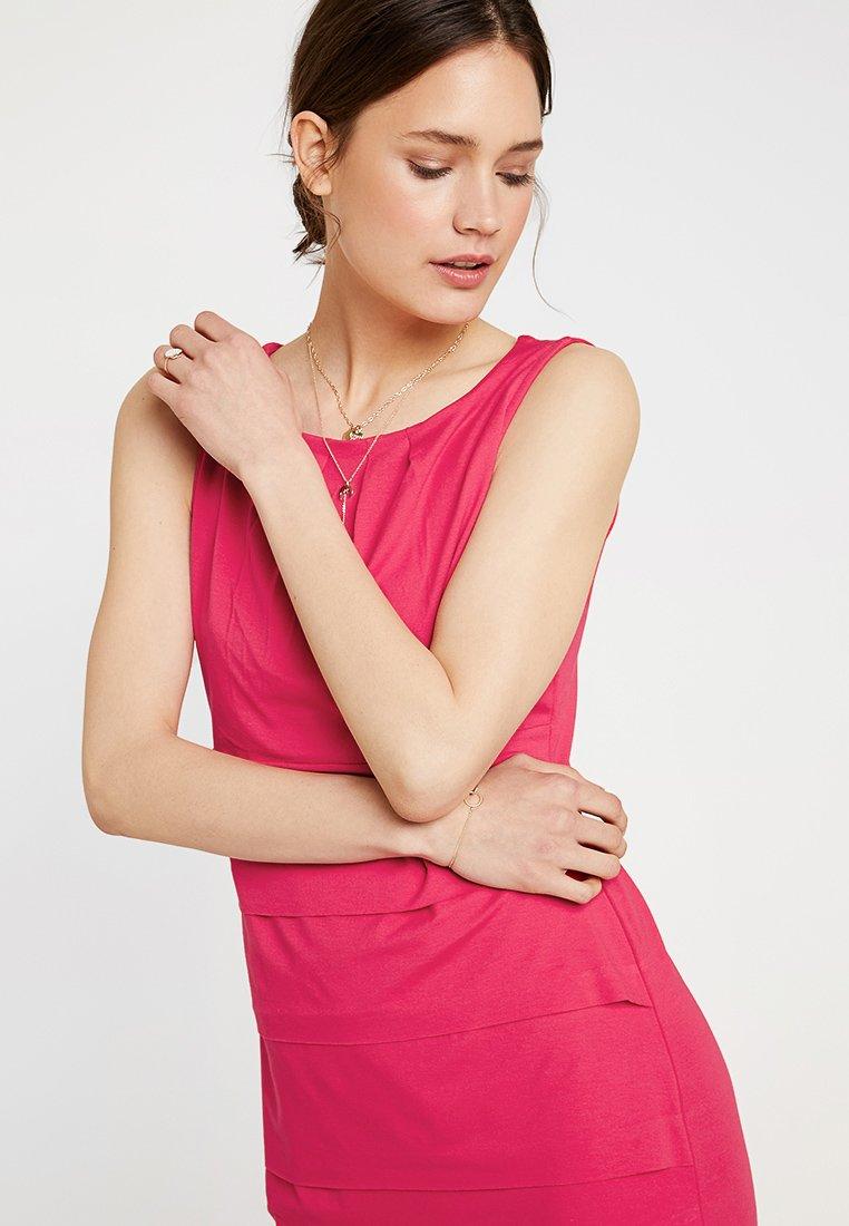 kleid kurz - jerseykleid - hibiskus