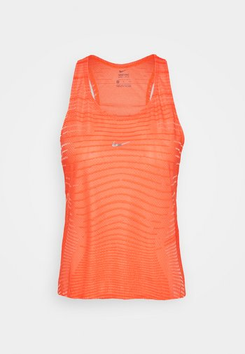 TANK - Camiseta de deporte - bright mango/white/metallic silver