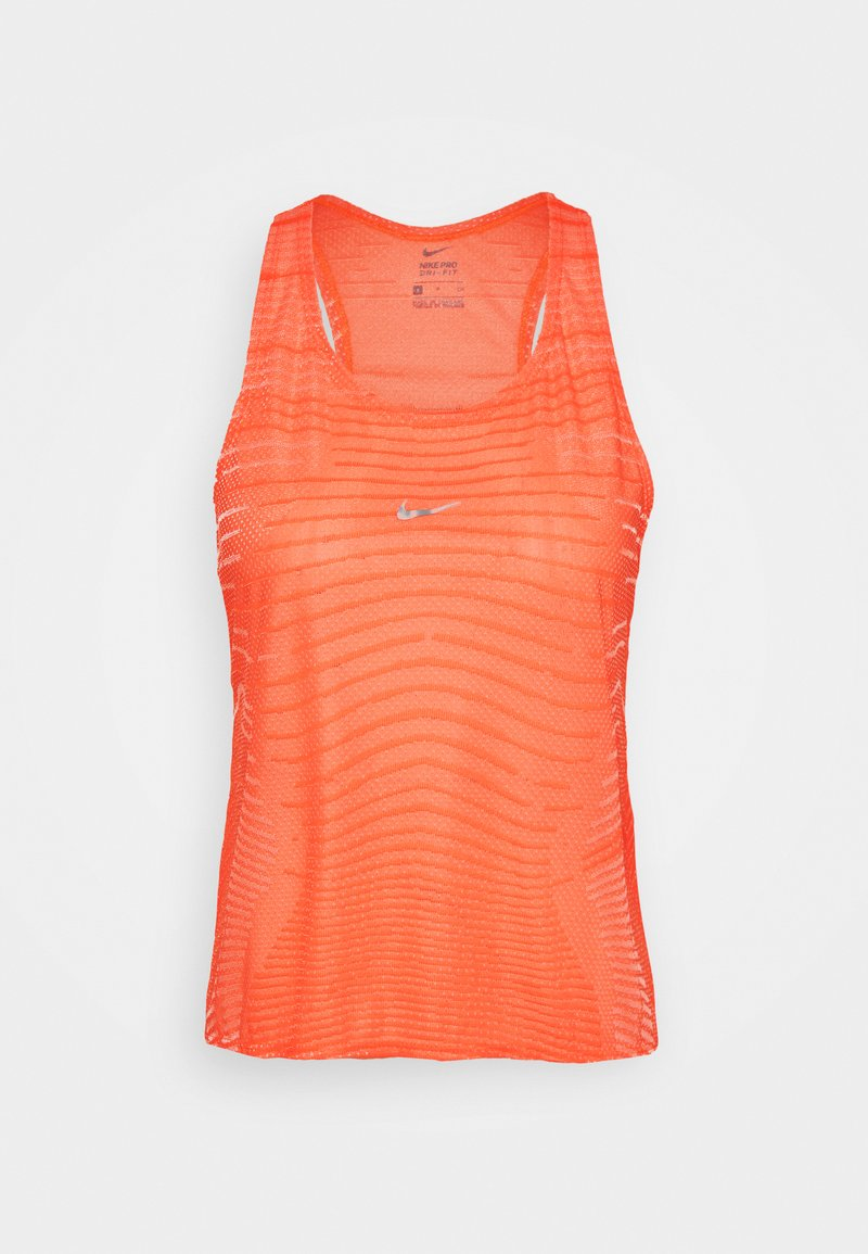 Nike Performance - TANK - T-shirt sportiva - bright mango/white/metallic silver