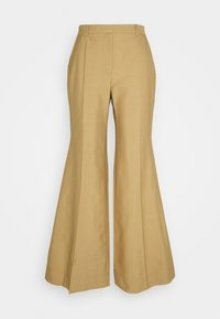 Victoria Beckham - WIDE BOOTCUT TROUSER - Trousers - taupe - 7