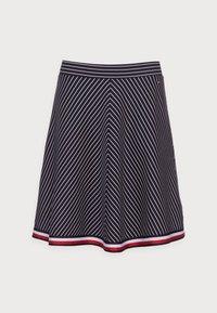 GLOBAL SHORT SKIRT - A-line skirt - blue