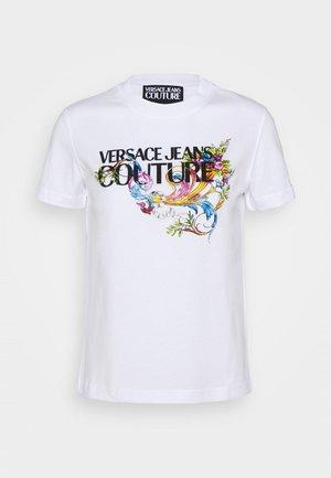 TEE - T-shirt z nadrukiem - optical white