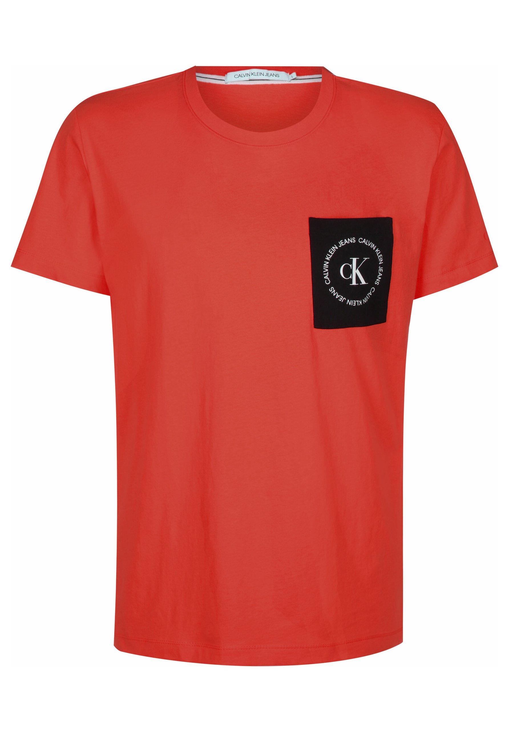 Men CK ROUND LOGO REG PCKT TEE - Print T-shirt