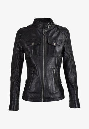 ADRIANA - Leather jacket - schwarz