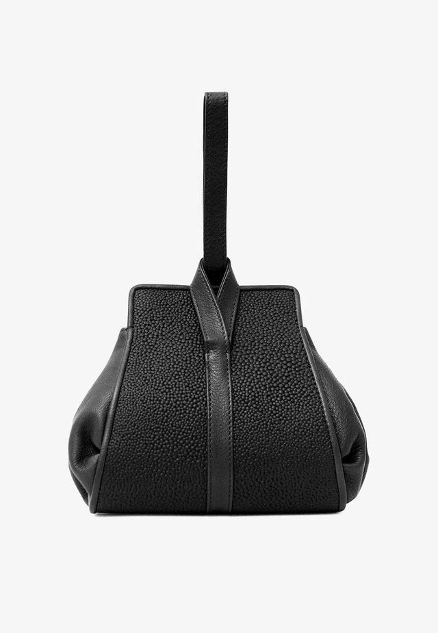 TANGO - Handbag - midnight black circles
