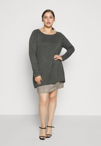 Even&Odd Curvy - Jumper - dark grey - 0