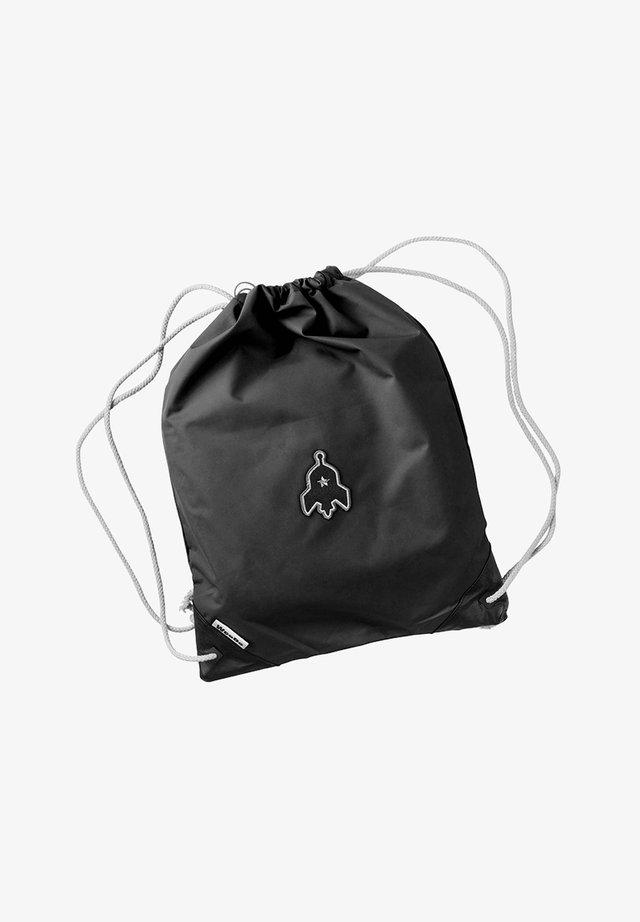 Drawstring sports bag - beetle black