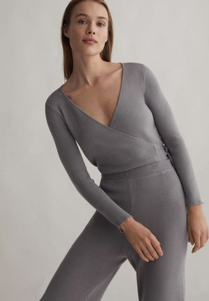 Strikjakke /Cardigans - grey