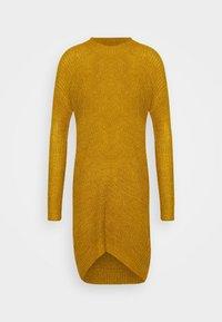 JDYMIGGY MEGAN HIGH NECK DRESS - Jumper dress - harvest gold/black ply