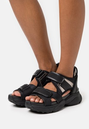 HARVEY  - Platform sandals - black