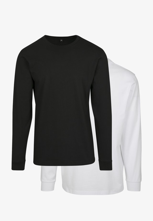 2-PACK - T-shirt à manches longues - black/white
