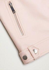 Mango - MAO - Faux leather jacket - rose clair - 2