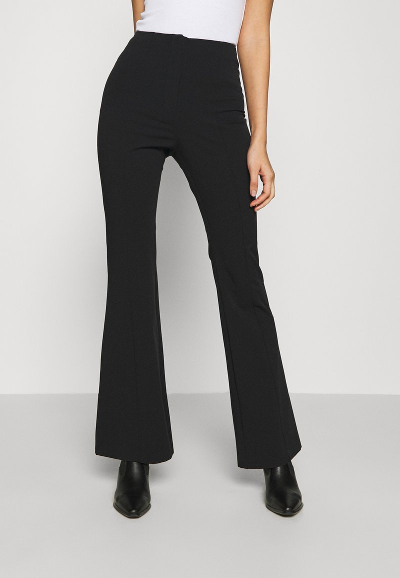Monki - VIOLET TROUSERS - Trousers - black dark