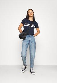 Hollister Co. - TUCKABLE SPORTY - Print T-shirt - navy - 1