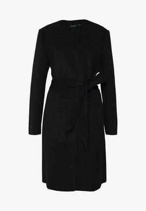 DOUBLE FACE BELTED  - Klasický kabát - black