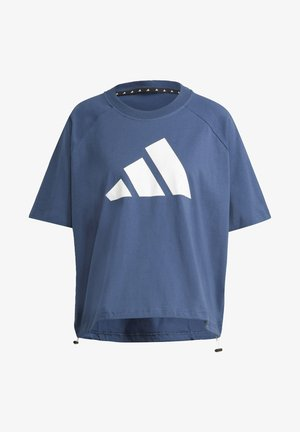 ADIDAS SPORTSWEAR ADJUSTABLE BADGE OF SPORT T-SHIRT - Camiseta estampada - blue