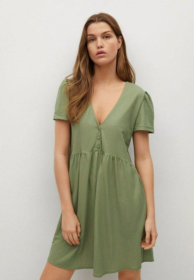 FLOWY - Korte jurk - khaki